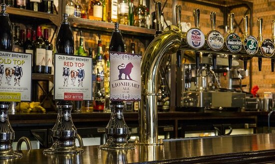 White Lion: Local ales on tap