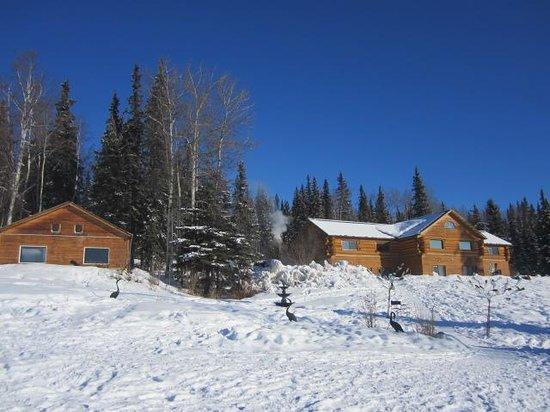 A Taste of Alaska Lodge: Back of lodge - view 2