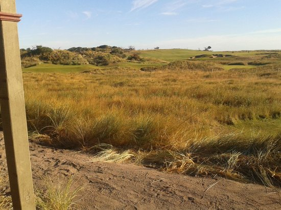 Barnbougle Dunes Cottages : Looking west towards first tee