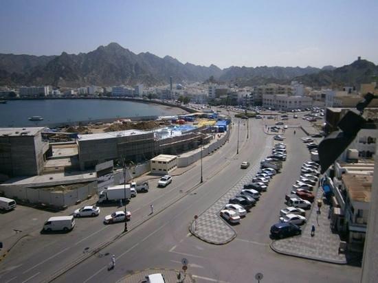Corniche: from the coffe shop of the Marina Hotel