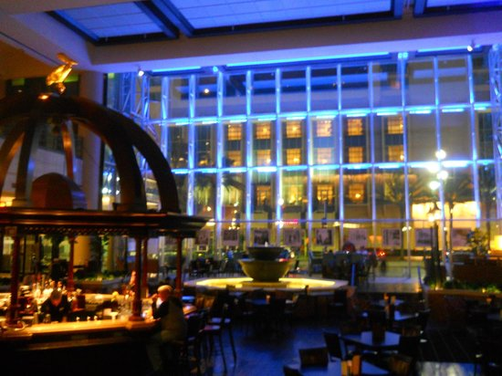 Sheraton New Orleans Hotel Bar Lobby At Night