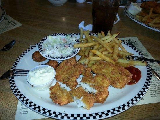 Black Bear Diner: Fish fry dinner, $7.99 per person.