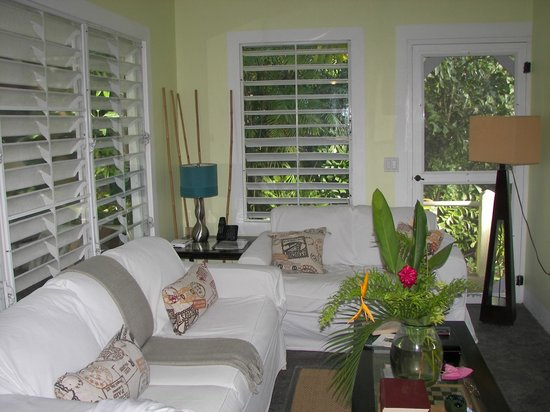 Palm Cottages: living room (lovely but never used as prefer patio)