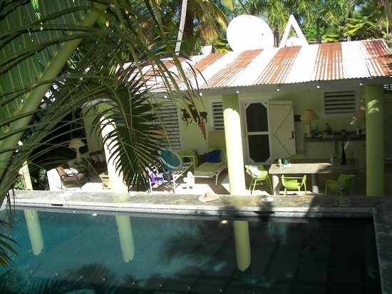 Palm Cottages: view of Palm Cottage (from Pool cottage)
