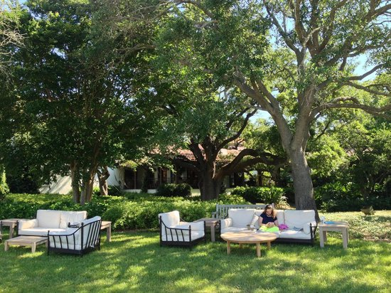 The Cloister at Sea Island: lawn at The Cloister