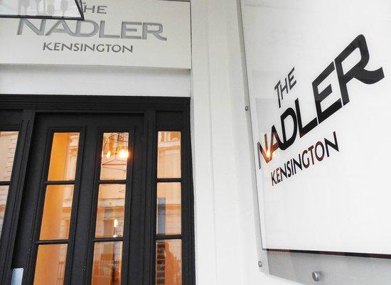 The Nadler Kensington: Hotel entry