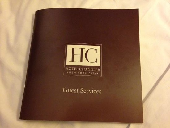 Hotel Chandler: Excellent hotel and local  area information booklet