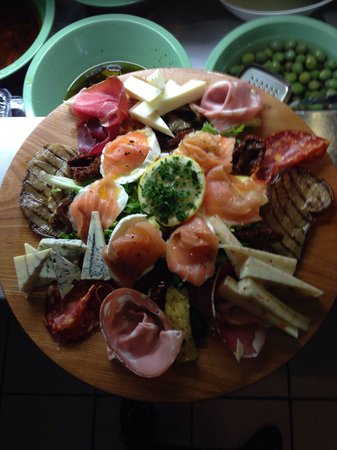Ciao Belli: Meats and cheese platter!!