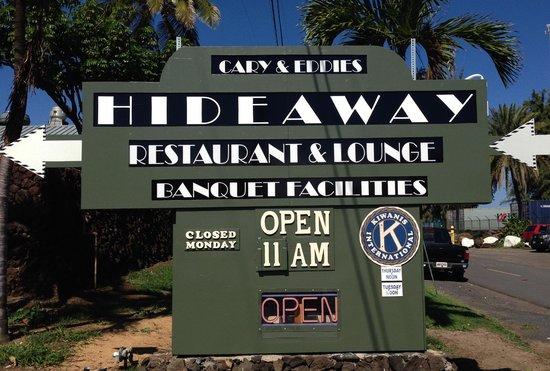 Hideaway Cary & Eddie's: Cary & Eddie's Hideaway Remodeled Sign