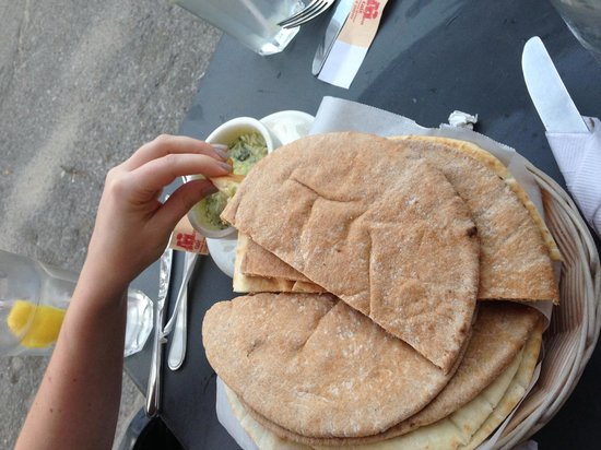Babylon Cafe: Pita and Home Made Bread with Dip