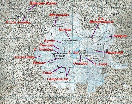 Topo Map Picture Of Nevado De Toluca Central Mexico And Gulf