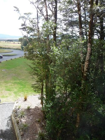 Chateau Tongariro Hotel : View - hanging out the window