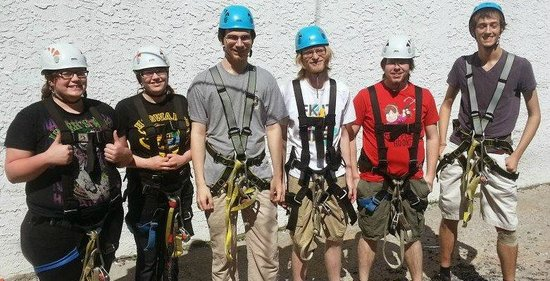 Zip Gatlinburg: Our group before we left for the ziplines
