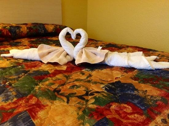 Apollo Inn Motel: more cute towel art