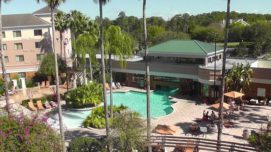 Courtyard Orlando Lake Buena Vista in the Marriott Village: View from 4th floor room