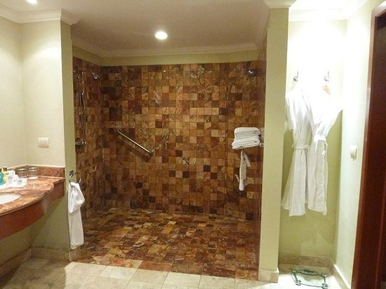 Huge tiled shower - Picture of Valentin Imperial Riviera Maya, Playa ...