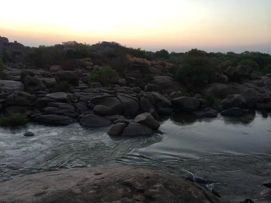Hampi's Boulders: view from the balcony