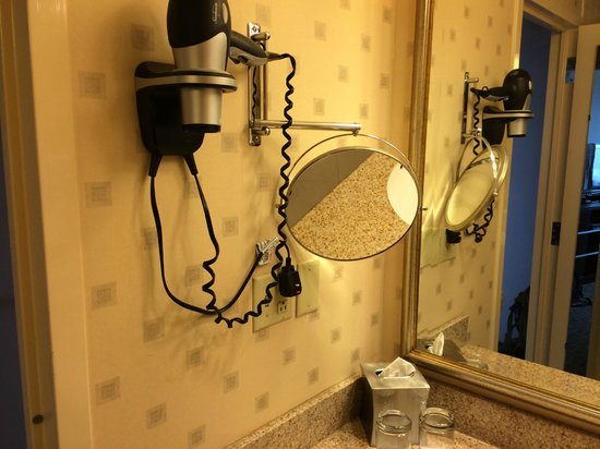 The Statler Hotel at Cornell University: Makeup mirror, blow dryer, all the comforts of home