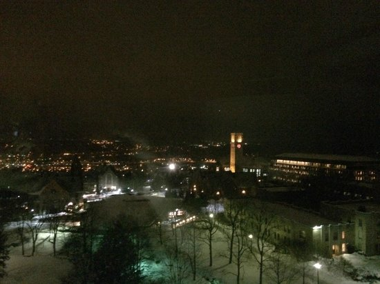 The Statler Hotel at Cornell University: Nighttime view from Room 912