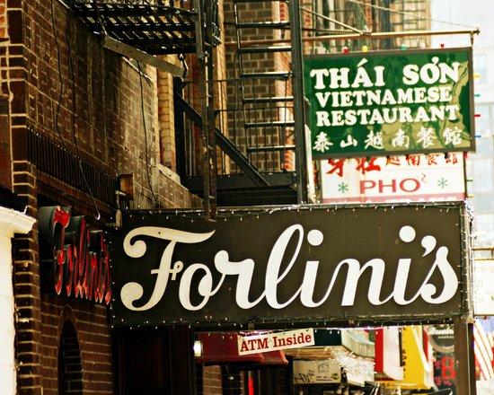 Forlini's Restaurant: Sign