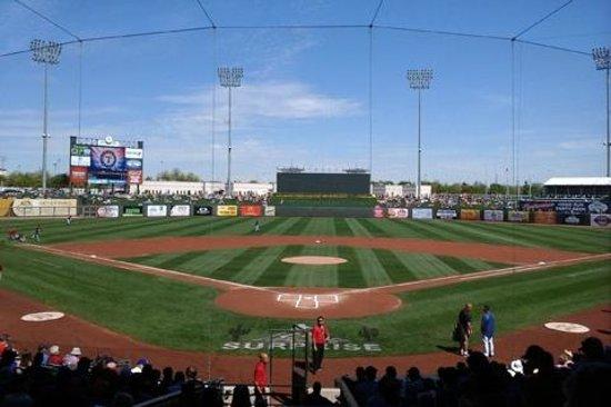 Surprise Stadium : Behind home plate