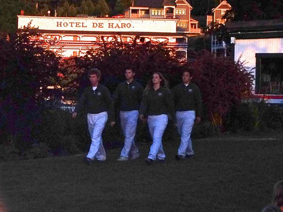 Roche Harbor Colors Ceremony: The Marina Crew Entering