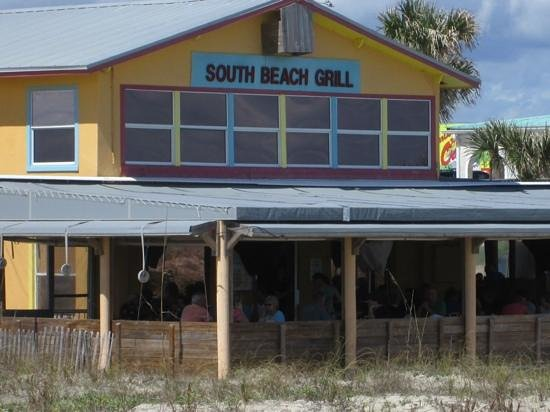South Beach Grill - View from the public walkway to the beach.