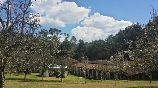 Restaurante Jardines De San Cristobal: vista del restaurante desde los jardines