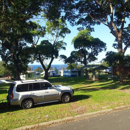 Ulladulla Headland Holiday Park: view from my room