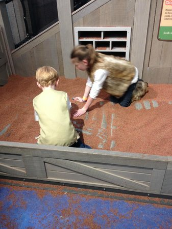 Mississippi Children's Museum: Digging for fossils