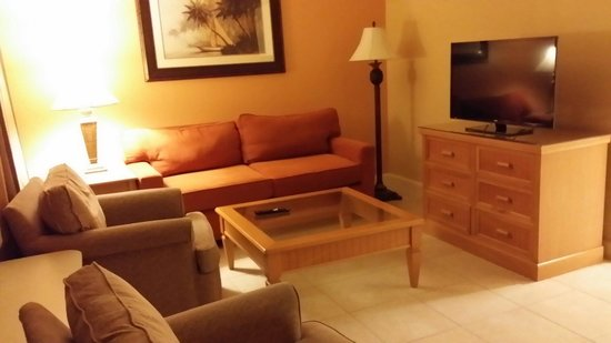 Celebration Suites: Living room with murphy bed