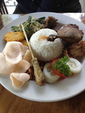 Bebek Bengil: nasi campur bebek (you should consider this for 2 person)
