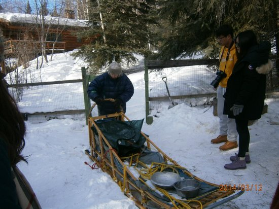 Alaskan Tails of the Trail with Mary Shields : Mary and one of her sleds.