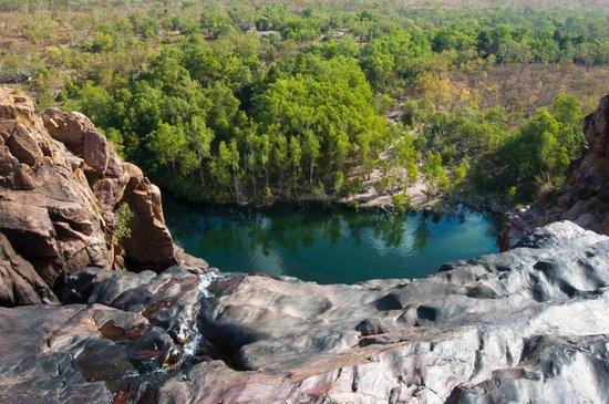 Gunlom Waterfall Creek: top pool view to the bottom pool