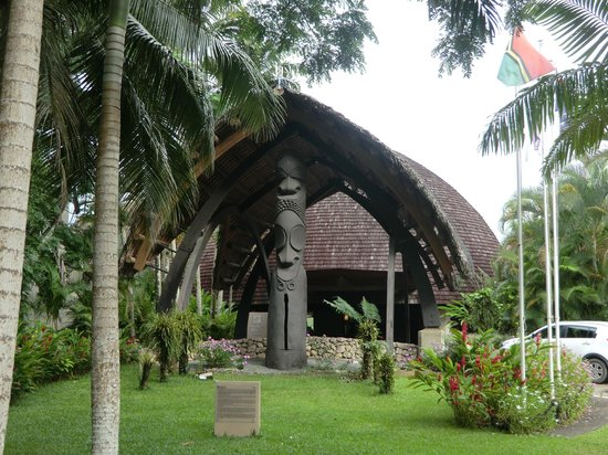 Holiday Inn Resort Vanuatu : Une vue de l'entrée de l'hôtel