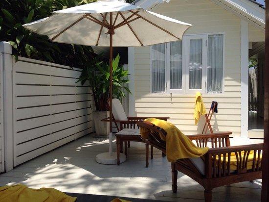Centara Grand Beach Resort & Villas Hua Hin: Premium deluxe pool villa 424 terasse