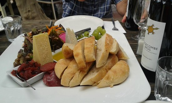 Out & About Wine Tours: This is lunch for 2-3 people. So good.