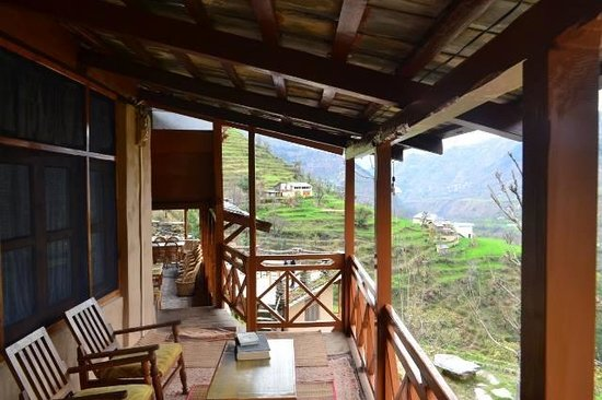 Himalayan Orchard Huts: View from my room