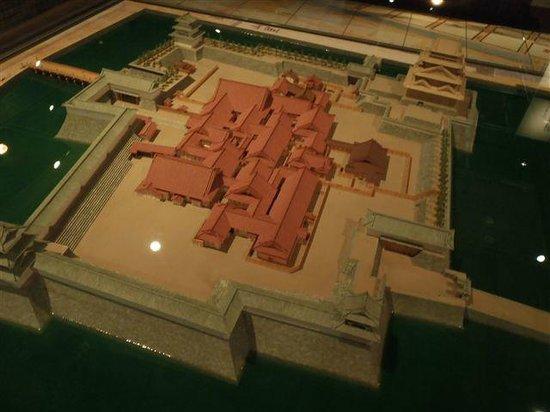 Fukui Castle Ruins : 本丸復元模型