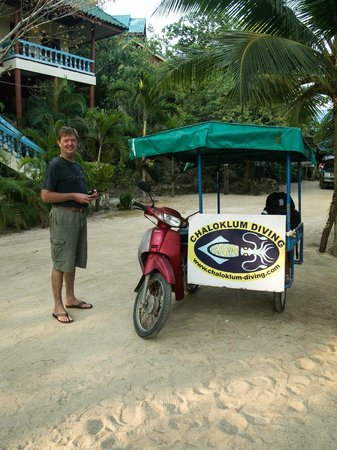 Chaloklum Diving: The transport from Wang Sai to the dive school