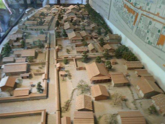 Ichijodani Asakurashi Ruin: 町並み復元模型