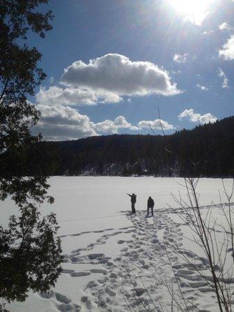 Auberge Refuge du Trappeur: Le lac à proximité de l'auberge