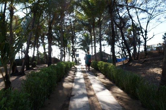 Vila Goesa Beach Resort: Дорога на пляж