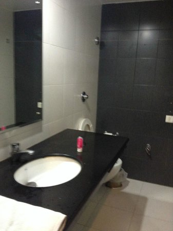 Hotel MC International & ZO Rooms: Washroom - Big one but very basic toiletries