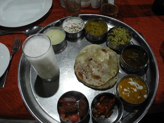 Only Restaurant : A tasting plate, complete with lassi