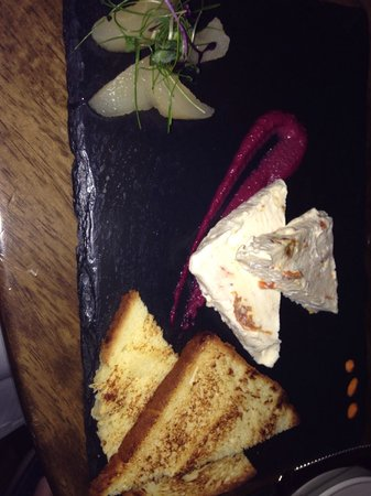 The Church: Yummy goats cheese starter