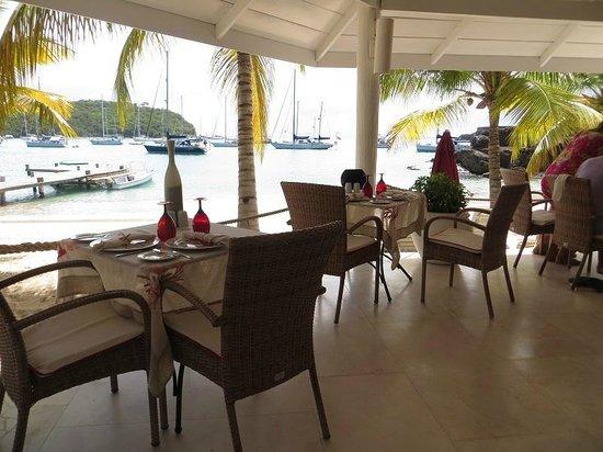 The Inn at English Harbour: the beach restaurant at the Inn