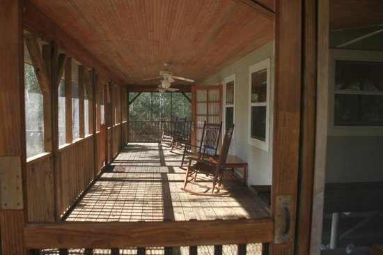 Beau Silver Springs State Park: Full Length Of Front Porch, Cabin 6