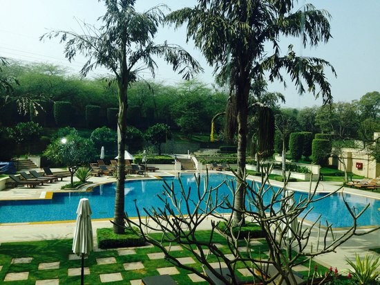 The Grand New Delhi: View of pool from my room