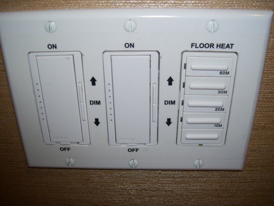 The Ritz-Carlton, Toronto: floor heating control ofr bathroom